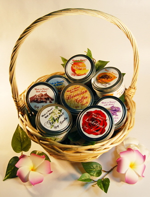 Hawaiian Candle Gift Basket